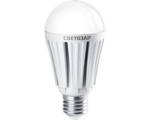 "Лампа СВЕТОЗАР светодиодная ""LED technology"", цоколь E27(стандарт), яркий белый свет (4000К), 230В, 12Вт (100)"