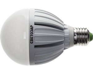 "Лампа СВЕТОЗАР светодиодная ""LED technology"", цоколь E27(стандарт), яркий белый свет (4000К), 220В, 15Вт (150)"