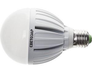 "Лампа СВЕТОЗАР светодиодная ""LED technology"", цоколь E27(стандарт), яркий белый свет (4000К), 220В, 20Вт (175)"