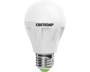 "Лампа СВЕТОЗАР светодиодная ""LED technology"", цоколь E27(стандарт), яркий белый свет (4000К), 220В, 6Вт (50)"