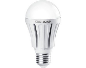 "Лампа СВЕТОЗАР светодиодная ""LED technology"", цоколь E27(стандарт), яркий белый свет (4000К), 230В, 10Вт (75)"