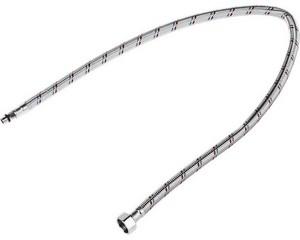 """Подводка гибкая STAYER для воды к смесителям, оплетка из нерж стали, укороченная, г/ш 1/2"""" - 0,8м"""