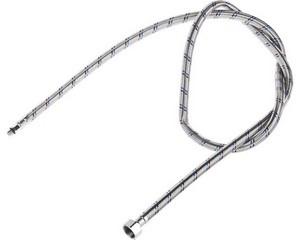 """Подводка гибкая STAYER для воды к смесителям, оплетка из нерж стали, укороченная, г/ш 1/2"""" - 1,5м"""