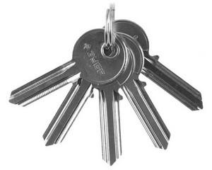 Заготовка ключа LEGIONER для 52101-xx, 52103-xx, 5шт