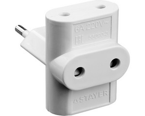 Разветвитель электрический MAXElectro, STAYER 55090-3, 3 гнезда, 6А/220В