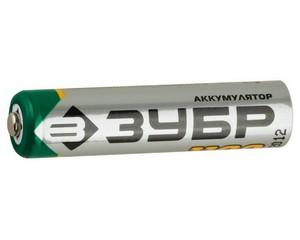 Аккумулятор ЗУБР никель-металлгидридный, тип ААА, 1100мАч, 4шт на карточке