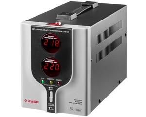 Автоматический стабилизатор напряжения однофазный переменного тока электронный с цифровой индикацией АСН-1000-1-Ц, ЗУБР, ПРОФЕССИОНАЛ, 59375-1