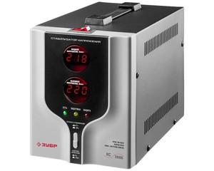 Автоматический стабилизатор напряжения однофазный переменного тока электронный с цифровой индикацией АСН-2000-1-Ц, ЗУБР, ПРОФЕССИОНАЛ, 59375-2
