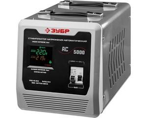 Автоматический стабилизатор напряжения однофазный переменного тока электронный с цифровой индикацией АСН-5000-1-Ц, ЗУБР, ПРОФЕССИОНАЛ, 59380-5