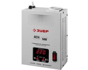 Автоматический стабилизатор напряжения однофазный переменного тока электронный с цифровой индикацией АСН-500-1-ЦН, ЗУБР, ПРОФЕССИОНАЛ, 59381-0.5