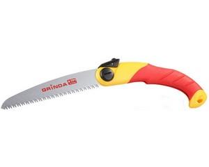 Ножовка GRINDA садовая складная, 3D-заточка, шаг зуба 4,0мм (6 TPI), 190мм