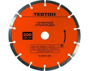 Круг отрезной алмазный ТЕВТОН универсальный, сегментный, для УШМ, 115х7х22,2мм