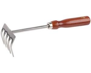 Грабельки GRINDA из нержавеющей стали с деревянной ручкой, 250 мм