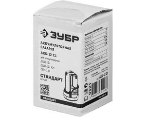АКБ-12 С1 аккумуляторная батарея 12 В, Li-Ion, 1.3 Ач, ЗУБР