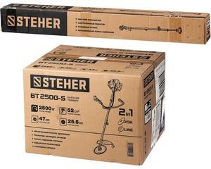 STEHER BT-2500-S бензокоса, 2.5 кВт / 3.3 л.с., 52 см3, разборная штанга