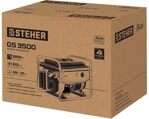 GS-3500 бензиновый генератор, 2800 Вт, STEHER
