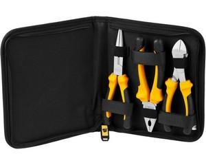 Набор JCB: Губцевый инструмент, хромированное покрытие, двухкомпонентные рукоятки, CrV cталь, 3 предм, чехол