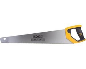 Ножовка JCB по дереву, полотно из стали SK5, 3-х гранные зубья, двухкомпонентная рукоятка, 550мм