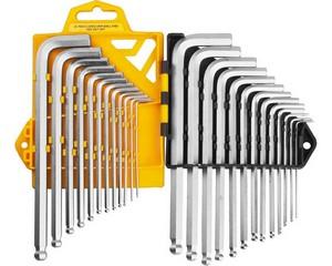 Набор JCB: Ключи имбусовые, длинные с шариком, сатинированное покрытие, Cr-V сталь, 25 предм