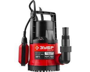 ЗУБР НПЧ-М1-550 дренажный насос с минимальным уровнем откачки, 550 Вт