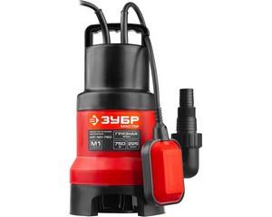ЗУБР НПГ-М1-750, дренажный насос для грязной воды, 750 Вт