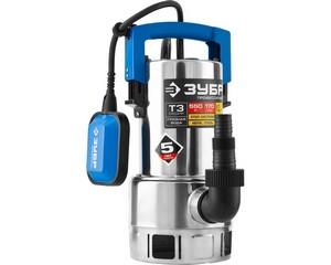 ЗУБР Профессионал НПГ-Т3-550-С, дренажный насос  для грязной воды, корпус - нерж. сталь, 550 Вт