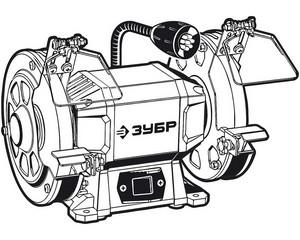ЗУБР ПСТ-125 профессиональный заточной станок, d125 мм,  200 Вт