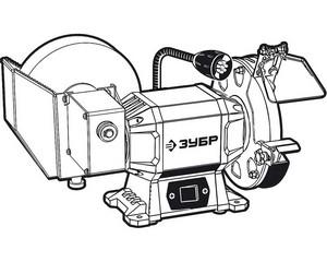 ЗУБР ПТМ-150 заточной станок для мокрого и сухого шлифования, d150 / d200 мм,  500 Вт