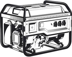 380 В бензиновый генератор с электростартером, 8000 Вт, ЗУБР
