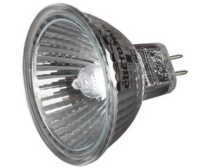 Лампа галогенная СВЕТОЗАР с защитным стеклом, алюм. отражатель, цоколь GU5.3, диаметр 51мм, 50Вт, 12В