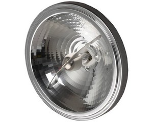 Лампа галогенная СВЕТОЗАР алюм. отражатель, угол 24гр, цоколь G53, диаметр 111мм, 35Вт, 12В