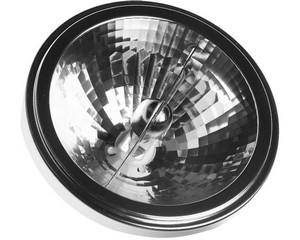 Лампа галогенная СВЕТОЗАР алюм. отражатель, угол 24гр, цоколь G53, диаметр 111мм, 75Вт, 12В