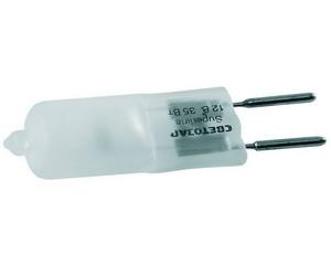 Лампа галогенная СВЕТОЗАР капсульная, матовое стекло, цоколь GY6.35, диаметр 12мм, 35Вт, 12В