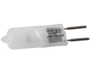 Лампа галогенная СВЕТОЗАР капсульная, матовое стекло, цоколь GY6.35, диаметр 12мм, 50Вт, 12В