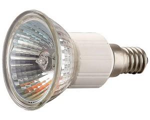 Лампа галогенная СВЕТОЗАР с защитным стеклом, цоколь E14, диаметр 51мм, 50Вт, 220В
