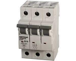 Выключатель автоматический, СВЕТОЗАР, ПРЕМИУМ, SV-49013-63-B