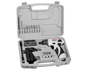 ЗУБР ЗДА-7.2-Ли-К отвертка-шуруповерт аккумуляторная 7.2 В, в кейсе с набором инструмента