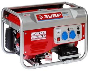 Генератор бензиновый, ЗУБР ЗЭСБ-3500-Э, 4-х тактная, ручной и электрический пуск, 220/12 В, 3500 Вт