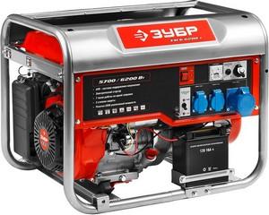 Бензиновый генератор с электростартером, 6200 Вт, ЗУБР