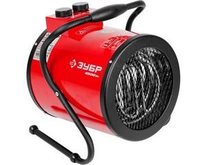 """Пушка тепловая """"круглая"""" электрическая, ЗУБР ЗТП-5000_М2, гладкий нерж. ТЭН, двойные стенки (термос), термостат, 4.5/3 кВт, 220 В"""